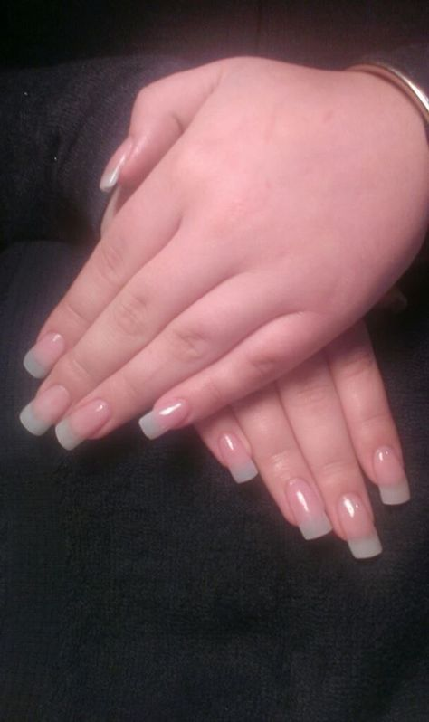 Natural Solar Gel Nails with Squared Tips … | Pinteres…
