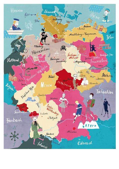 Kinder Deutschlandkarte Masse A2 42 X 59 4 Cm Ca 15 170 G