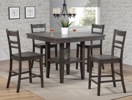 Dlu El4545c B200 5pc 5 Piece Dining Room Set With Dining Table