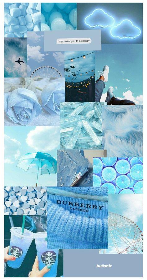 background biru polos warna