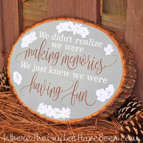 DIY Disney-Inspired Wood Slice Sign | Where The Smiles Have Been #Disney #DisneyCraft #WinnieThePooh #Pooh #DIY #WoodSlice #Quote #Vinyl #PrintableVinyl #Silhouette #Cricut #Sign