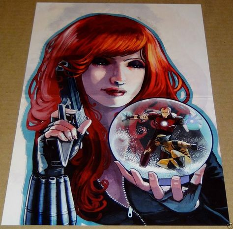 Black Widow Wolverine Iron Man Marvel Comic Book Poster Kiss