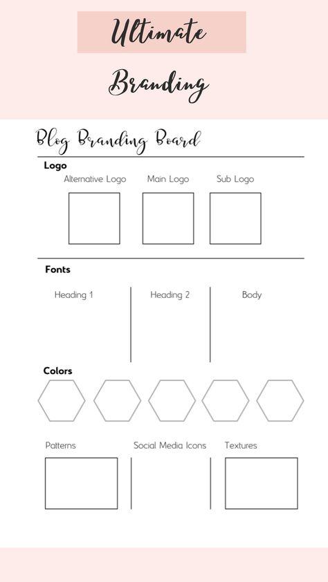 Blog Organisation, At A Glance Planner, Blog Planner Printable, Feeds Instagram, Business Planner, Business Ideas, Brand Board, Business Branding, Blogger Tips