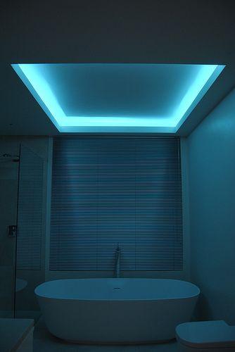 Using Rgb Lumilum Strip Light Led Light Bathroom Ambient Led Lighting Home Bathroom Lighting Bathroom Lighting Design