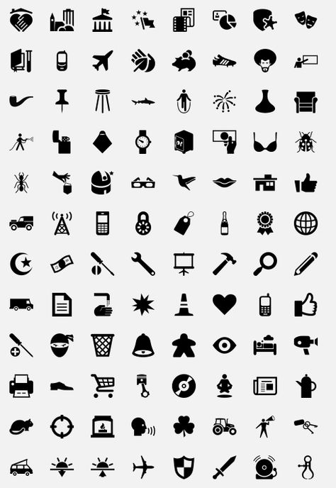 Free icons and dingbats. I totally could have used this last week!     http://thenounproject.com/