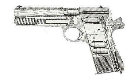 """1//6 Scale Black Pistol pistolet arme Modèle Jouet Pour 12/"""" Action Figure Doll"""