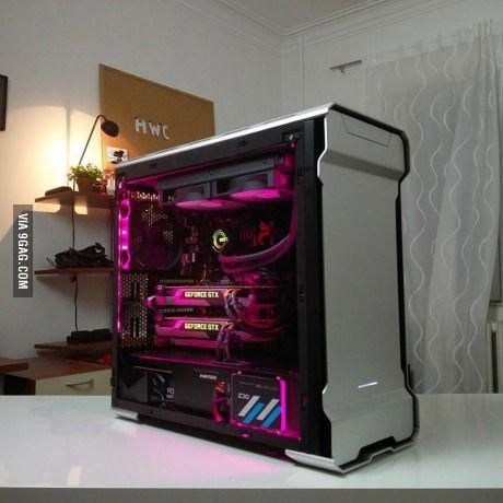 I'm sick of those green/black or red/black PC builds , pink