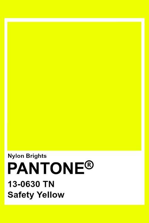 Safety Yellow #Pantone