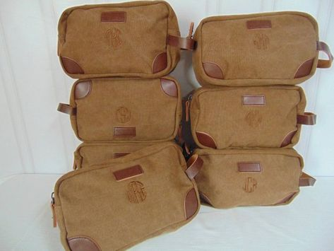74c0d0a2fe5b Groomsmen Toiletry Bag-Monogram included-Groomsmen Bags-Personalized  Groomsmen Gifts- Canvas and Lea