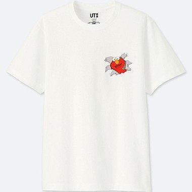 UNIQLO×Kaws×Sesame Collaboration T-Shirt S Size White Japan Limited Elmo