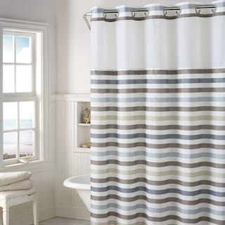 Windsor 2 Pc Fabric Shower Curtain Liner Set Plaid Shower