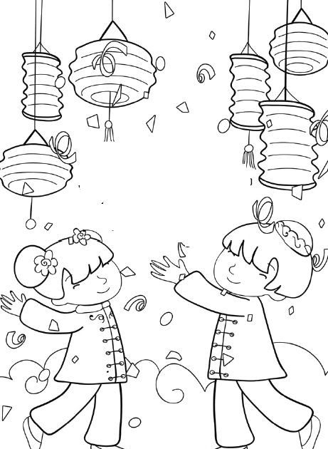 Chinese New Year Crafts For Kids Chinese New Year Activities Chinese New Year Card Chinese New Year Decorations Di 2020 Tahun Baru Imlek Adult Coloring Pages Clip Art