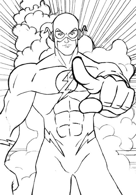 Flash Coloring Pages Superhero Coloring Pages Superhero