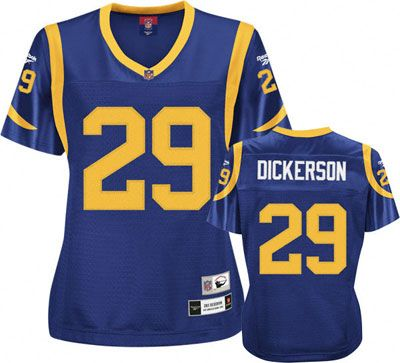 competitive price 8f10e 83353 Eric Dickerson Rams Throwback Ladies Jersey | Rams baby ...