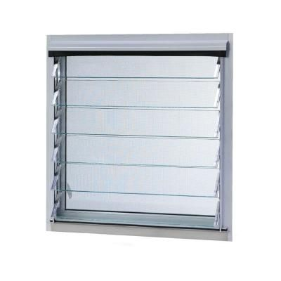 Tafco Windows 12 In X 13 875 In Jalousie Utility Louver Awning Aluminum Screen Window In White Aluminum Screen Louver Windows Window Design