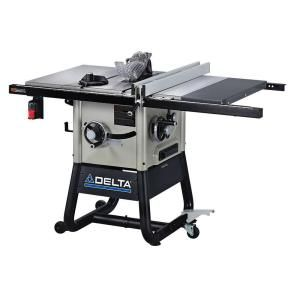 Delta 15 Amp 10 In Left Tilt 30 In Contractor Table Saw With Cast Iron Wings 36 5100 The Home Depot In 2020 Contractor Table Saw Delta Table Saw Table Saw