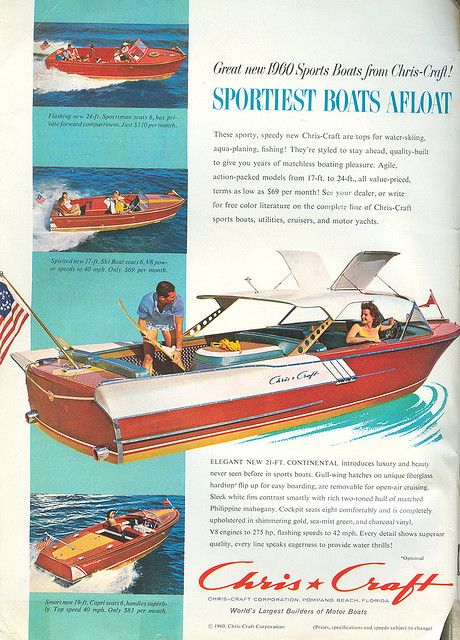 Chris Craft Ad 1960 Chris Craft Cool Boats