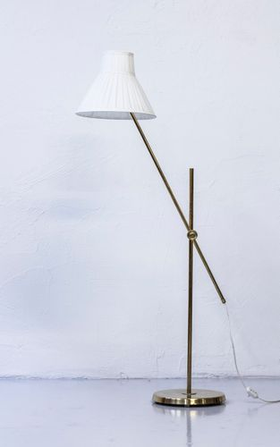 Rare Floor Lamp Designed By Hans Bergstrom Produced In The 1940s Or Early 1950s By Asea In Sweden Made From Solid Polishe Floor Lamp Design Floor Lamp Lamp