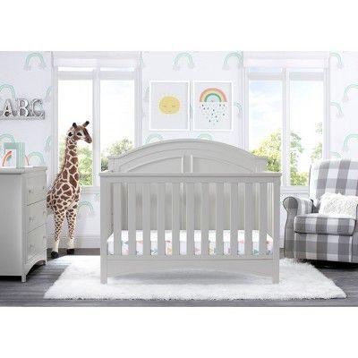 Delta Children Perry 6 In 1 Convertible Crib Moonstruck Grey In 2020 Convertible Crib Delta Children Cribs