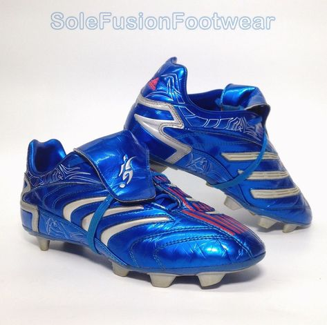 3da8c841c adidas Predator David Beckham Football Boots Blue sz 5.5 Mens Boys EU 38.6  US 6