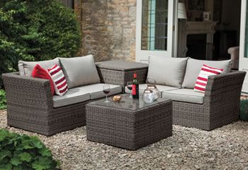 650 Image Of 2018 Hartman Madison Essential Corner Set With Cushion Storage Slate Stone Table And Bench Set Corner Sofa Set Outdoor Furniture Sets