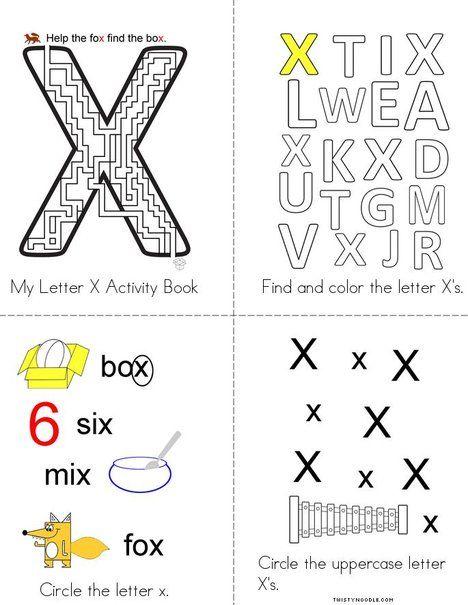 Letter X Maze Coloring Page Twisty Noodle Lettering Coloring Pages Mini Books