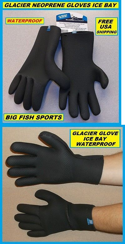 1 Pair Glacier Gloves Neoprene Kenai Original 015BK Fishing SIZE Large