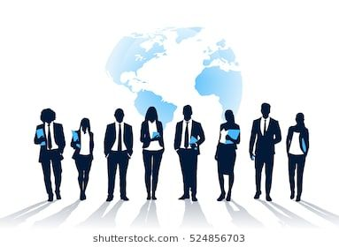 Business People Team Crowd Walk Silhouette Concept Businesspeople