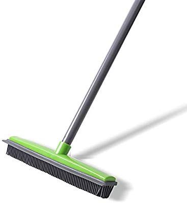 Amazon Com Push Broom Soft Bristle 59 Rubber Broom Carpet