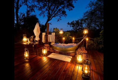 Situated on stilts above the Boro River, elephants and hippos are just a few of the locals that you might see and hear from your private deck. Hotel Daydreaming: 16 Of The World's Best Outdoor Bathtubs - pg.7