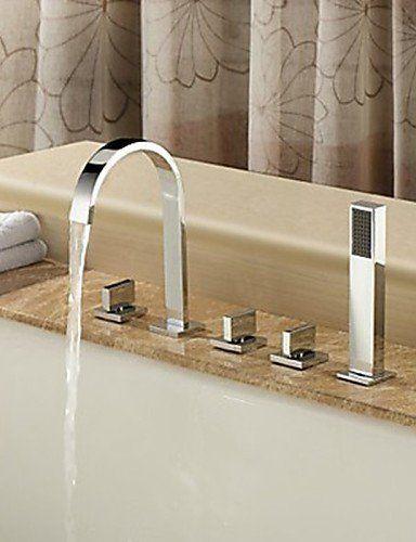 Dahuuyus Modern Taps Mixer Kitchen Sink Taps Widespread Waterfall