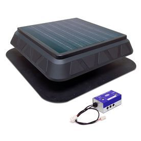 Master Flow 900 Cfm Black Plastic Solar Power Roof Vent Lowes Com Solar Powered Attic Fan Solar Attic Fan Solar Power