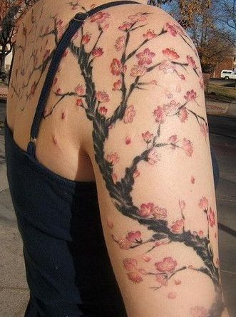 Ink Murals Full Back Chest And Sleeve Tattoos Picture Tattoos Blossom Tree Tattoo Tattoos