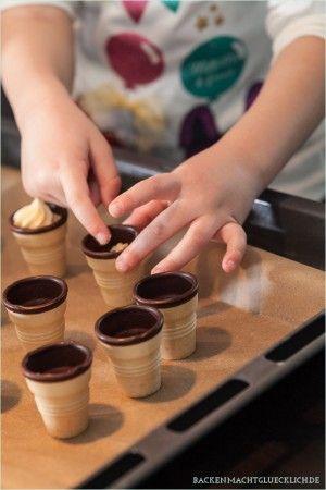 Waffelbecherkuchen für den Kindergeburtstag Kuchen, Kekse \ Co - kleine küche tipps