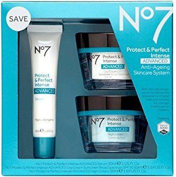 Boots No7 Protect Perfect Intense Advanced 3 Piece Skincare System Serum Day Night Cream Spf15 Review Skin Care System Skin Care Kit Skin Care
