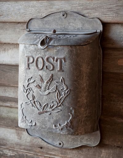 French Country Metal Post Box - Marmalade Mercantile                                                                                                                                                     More
