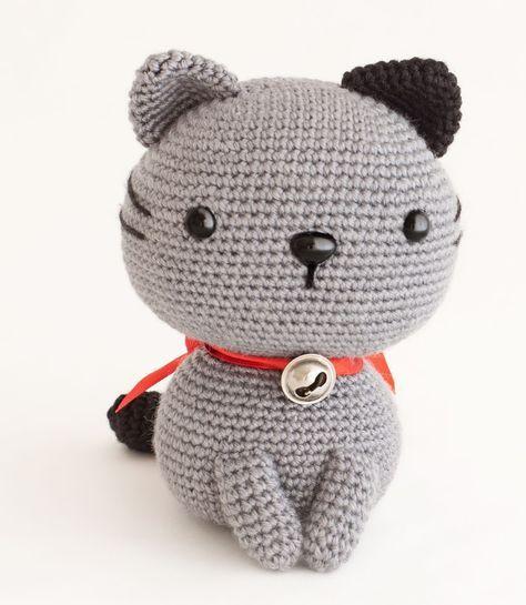 Katze häkeln im Amigurumi-Stil - gratis Anleitung für Anfänger ... | 545x474