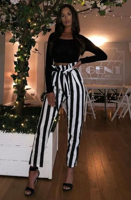 53 Ideas For Party Outfit Trousers Black White Party Black