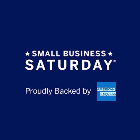 This Nov 24, let's all Shop Small at our go-to small businesses. Because when they thrive, we all do. Small Business Saturday, Proudly Backed by American Express.