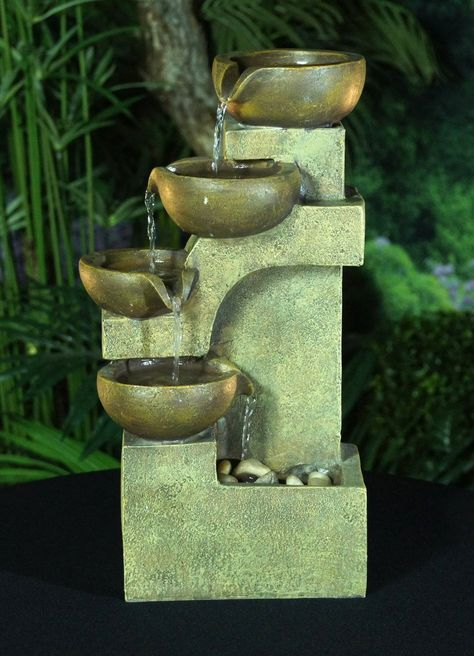 Amazon.com : Alpine Tiering Pots Fountain : Indoor Fountains : Patio, Lawn &…