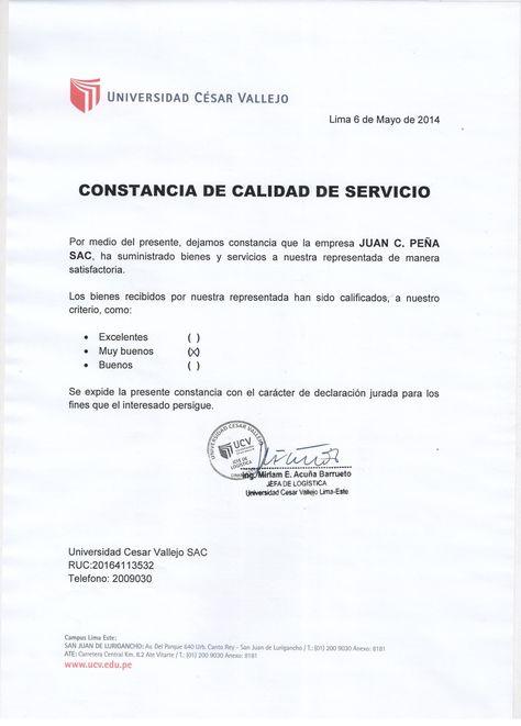 CLÍNICA TEZZA   CONSTANCIAS DE CALIDAD DE SERVICIO CLIENTES ...