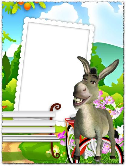 Why Don T You Try To Give Some Color To Your Special Photos And Especially To Those Of The Kids With A Png Photo Frame Photo Frames For Kids Shrek Kids Frames