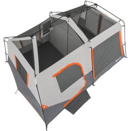 Ozark Trail 10 Person Instant Lighted Cabin Tent Walmart Com Cabin Tent Cabin Lighting Tent