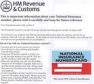 My Card No Ac 57 91 11 D In 2020 National Insurance Number