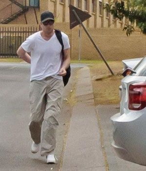 A visibly thinner Oscar Pistorius reported for his community service at Pretoria's Garsfontein Police Station just before 8am yesterday.
