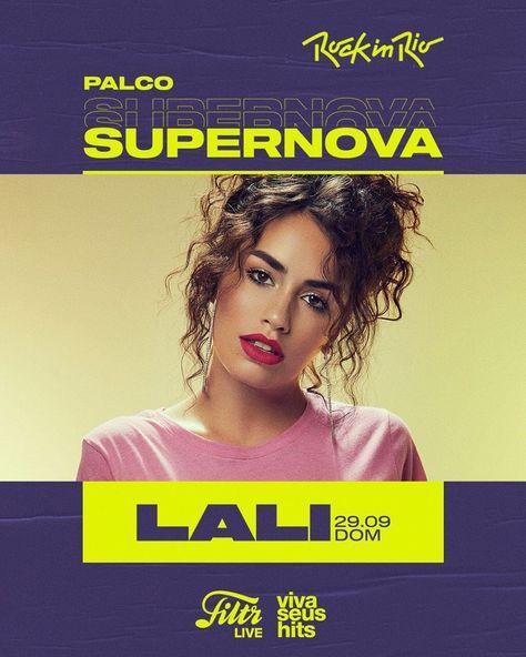 """LALI on Instagram: """"Se vieneeee #RockInRio 😍🤩 29/9 • Palco Supernova 💣🔥❤️💪🏻🇧🇷✨ . . . El Palco Supernova es una asociación entre @rockinrio y @filtr.brasil , la…"""""""
