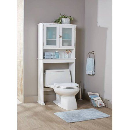 Better Homes Gardens Harborough Over The Toilet Bathroom Space Saver With Three Fixed Shelves White Walmart Com Bathroom Space Saver Bathroom Space Toilet Shelves
