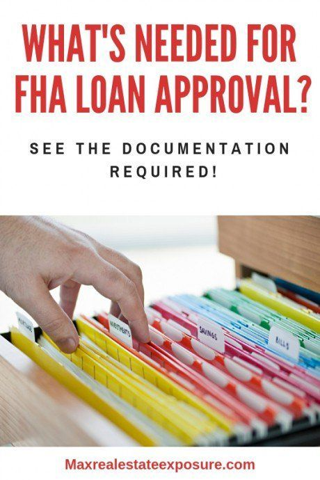 Documents Needed For Mortgage Preapproval For Each Type Of Loan Fha Loans Fha Mortgage Mortgage Tips