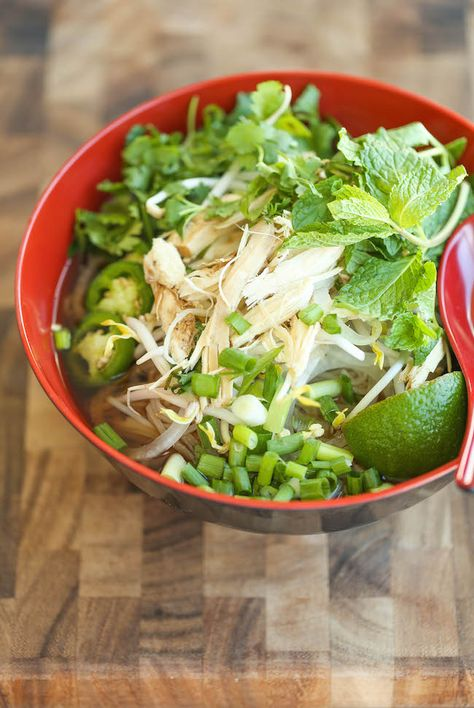 Cheater Pho (sopa de fideos asiáticos) - Con esta versión simplificada, que puede tener pho casera en su mesa en 30 minutos o menos.  No hay nada más fácil!