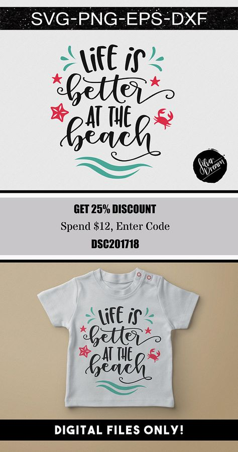 Life Is Better At The Beach SVG PLEASE NOTE • This is a digital file and no physical items will be shipped. Due to the nature of printable digital products there are no refunds offered on purchases delivered electronically. • Computer monitors vary in the way they display colors, so